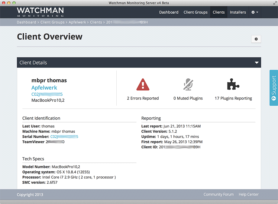 Watchman Client Overview