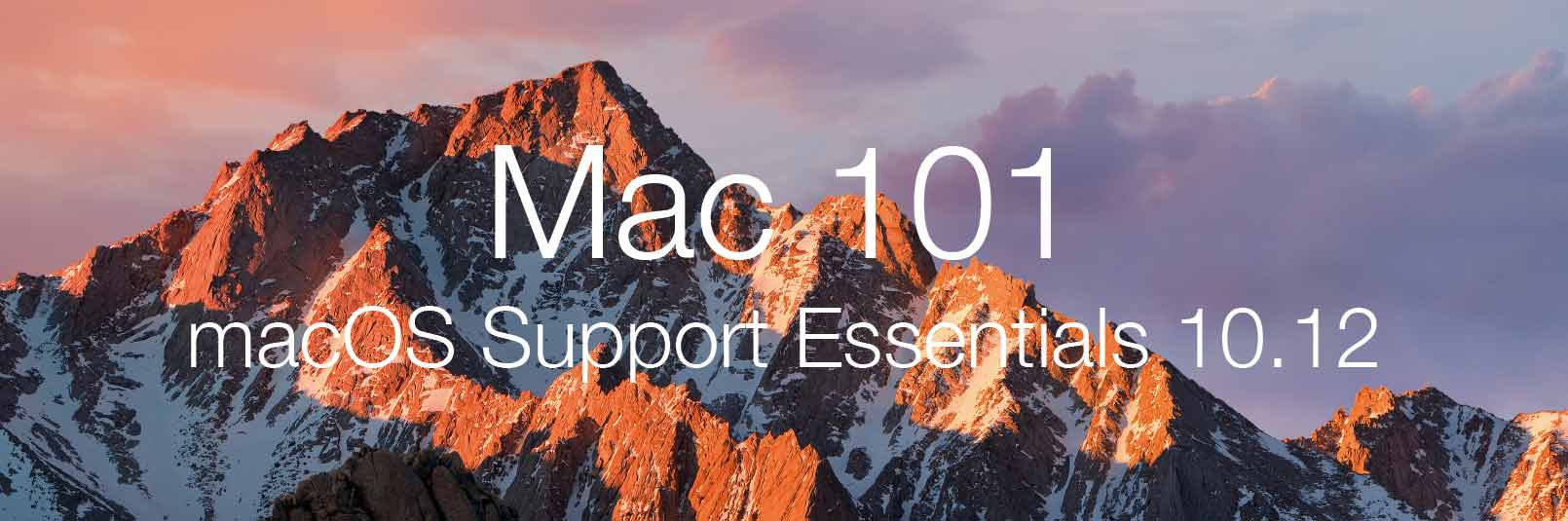 Kurs macOS Support Essentials 10.12