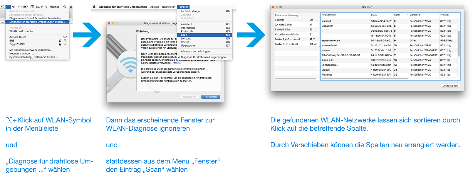 WLAN Diagnose mit OS X